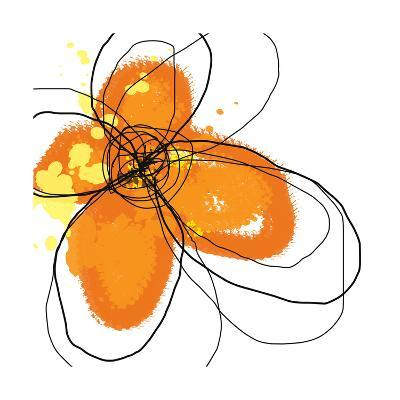 Orange Petals-Jan Weiss-Art Print