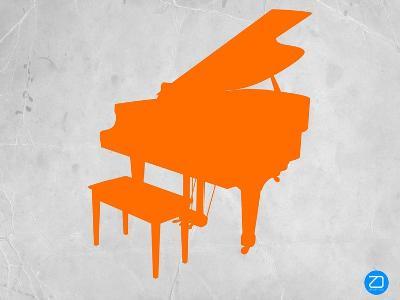 Orange Piano-NaxArt-Art Print