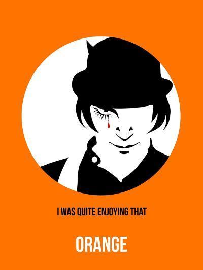 Orange Poster 2-Anna Malkin-Art Print