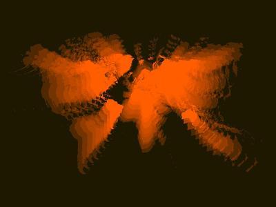 Orange Radiant World Map-NaxArt-Art Print