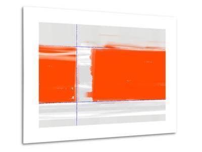 Orange Rectangle-NaxArt-Metal Print