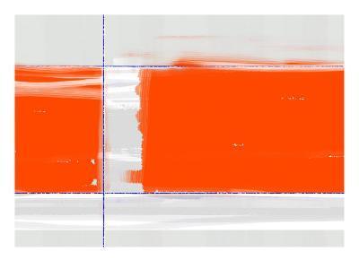 Orange Rectangle-NaxArt-Art Print