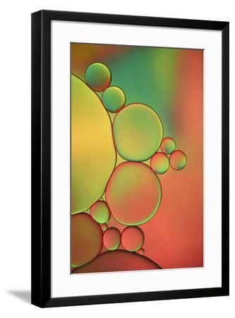 Orange, Red And Green Drops-Cora Niele-Framed Giclee Print