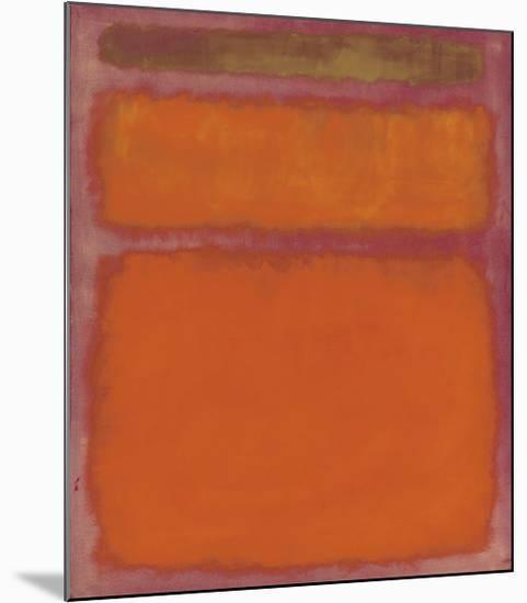 Orange, Red, Yellow, 1961-Mark Rothko-Mounted Giclee Print
