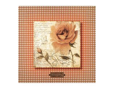 Orange Rose-Joadoor-Art Print