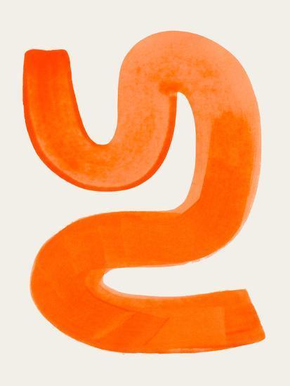 Orange Shrug-Ejaaz Haniff-Art Print
