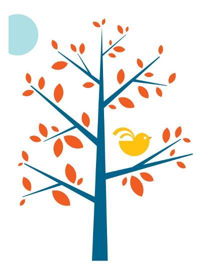 Orange Songbird-Avalisa-Art Print