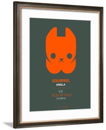 Orange Squirrel Multilingual Poster-NaxArt-Framed Art Print
