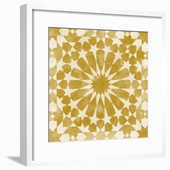 Orange Tile Light 10-Alonza Saunders-Framed Art Print