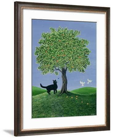 Orange Tree and Cat, 1981-Liz Wright-Framed Giclee Print