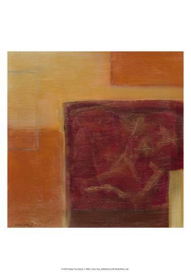 Orange Two-Step II-Erica J^ Vess-Art Print