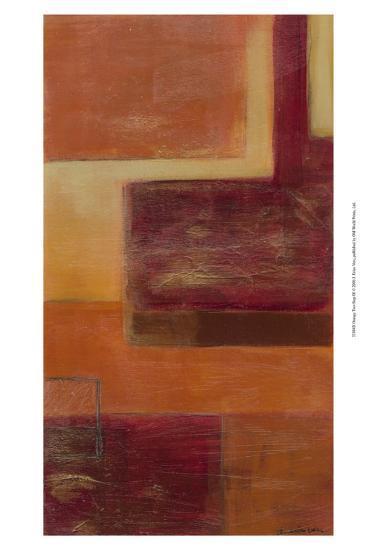 Orange Two-Step III-Erica J^ Vess-Art Print