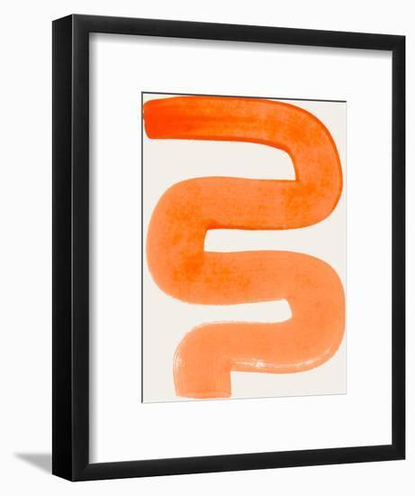 Orange Unsure-Ejaaz Haniff-Framed Art Print