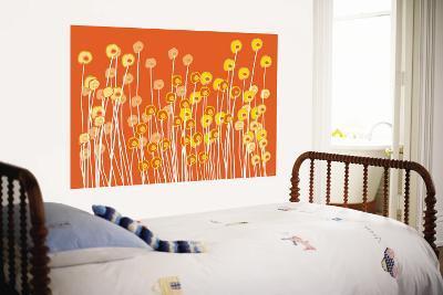 Orange Wild Flowers-Avalisa-Wall Mural