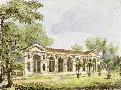 Orangery, Kew Gardens, Plate 11 from 'Kew Gardens: a Series of Twenty-Four Drawings on Stone'-George Ernest Papendiek-Giclee Print