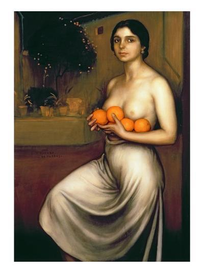 Oranges and Lemons-Julio Romero de Torres-Giclee Print