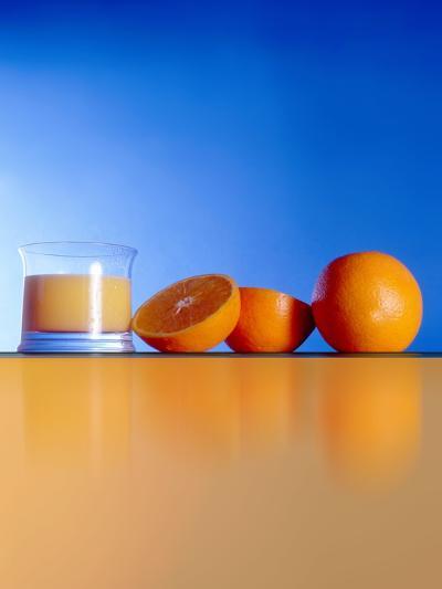 Oranges And Orange Juice-Victor Habbick-Photographic Print