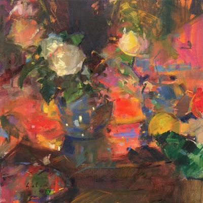 Oranges and Roses-Peter Graham-Giclee Print