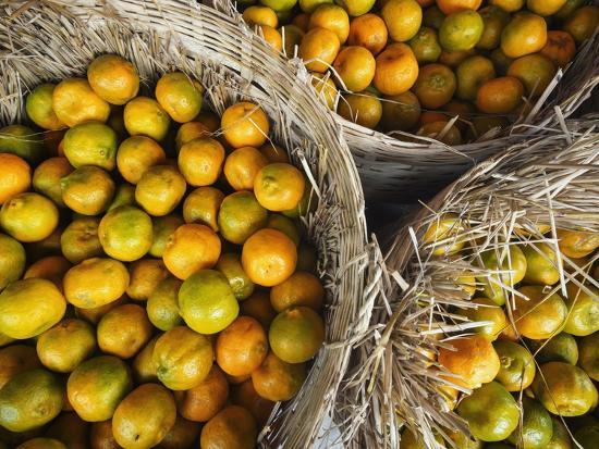 Oranges in a Myanmar Market-Jon Hicks-Photographic Print
