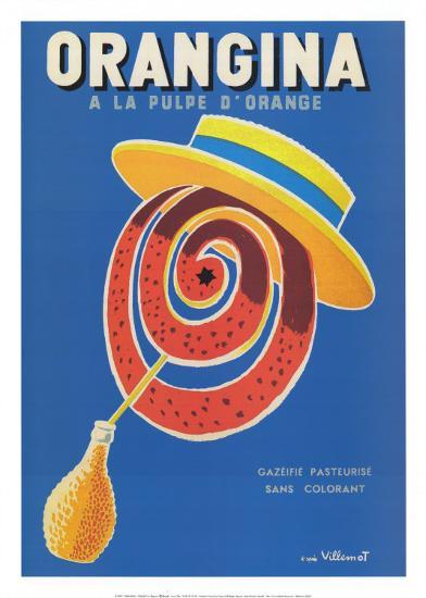 Orangina-Bernard Villemot-Art Print