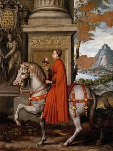 Mathild of Canossa on Horseback by Orazio Farinati