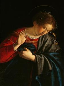 Annunciation (detail) by Orazio Gentileschi