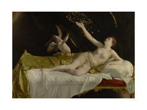 Danaë and the Shower of Gold, 1621-3 by Orazio Gentileschi