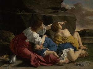 Lot and His Daughters, c.1622 by Orazio Gentileschi