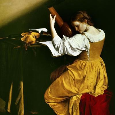 Lute Player, C. 1626 by Orazio Gentileschi