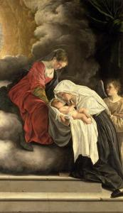 Madonna and Child with St. Frances of Rome by Orazio Gentileschi