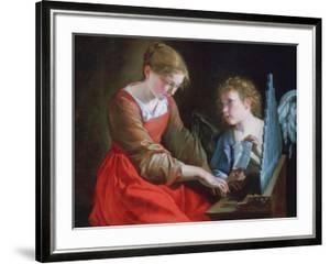 St Cecilia and an Angel, C1617-1618 and C1621-1627 by Orazio Gentileschi