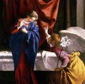 The Annunciation, circa 1623 by Orazio Gentileschi