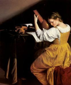 The Lute Player, c.1610 by Orazio Gentileschi