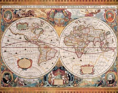 Orbis Geographica (Ac Hydrographica)-Jan Jansson-Art Print
