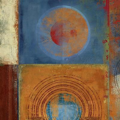 Orbis Orange and Blue-Anna Polanski-Art Print