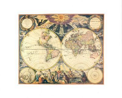 Orbis Terrarum Nova I-Pieter Goos-Art Print