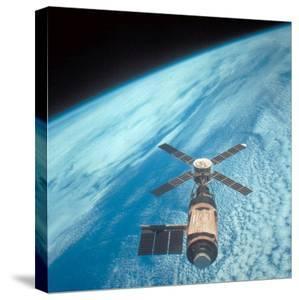 Orbiting Space Laboratory Skylab Aloft Above Earth