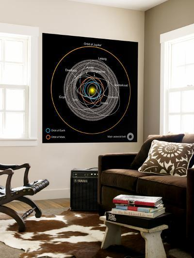 Orbits of Earth-Crossing Asteroids-Stocktrek Images-Wall Mural
