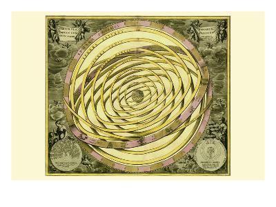 Orbium Planenarum-Andreas Cellarius-Art Print