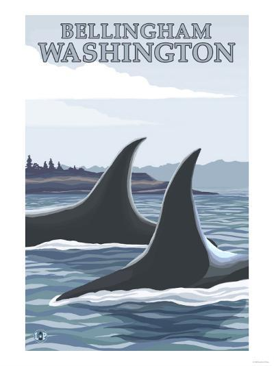 Orca Whales No.1, Bellingham, Washington-Lantern Press-Art Print