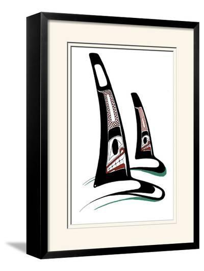 Orcas-Danny Dennis-Limited Edition Framed Print