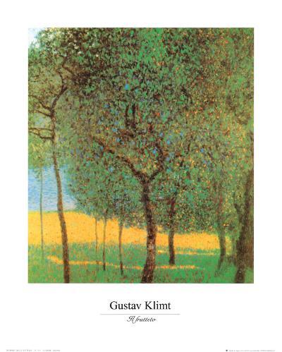 Orchard-Gustav Klimt-Art Print