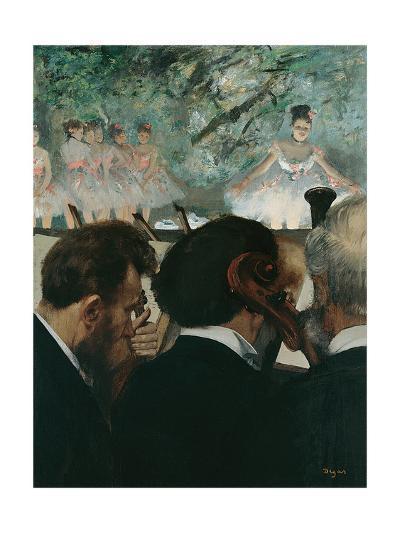 Orchestra Musicians-Edgar Degas-Giclee Print