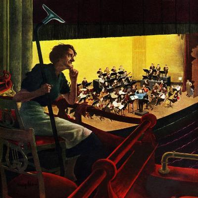"""""""Orchestra Rehearsal"""", January 13, 1951-George Hughes-Giclee Print"""