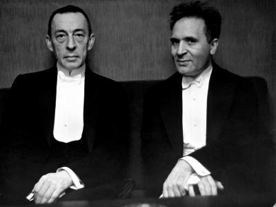 Orchestral Conductor Bruno Walter and Composer Pianist Sergei Rachmaninoff Relaxing Performance-Alfred Eisenstaedt-Premium Photographic Print