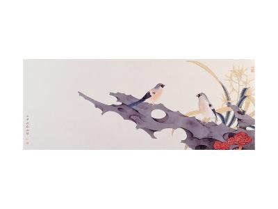 Orchid and Bird-Hsi-Tsun Chang-Giclee Print