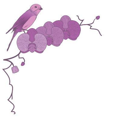 Orchid and Bird-tanais-Art Print