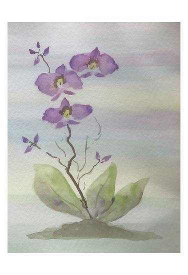 Orchid Duo 1-Debbie Pearson-Art Print