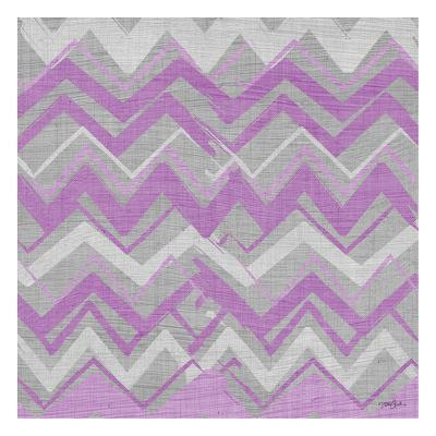 Orchid Gray Stripes 2-Diane Stimson-Art Print