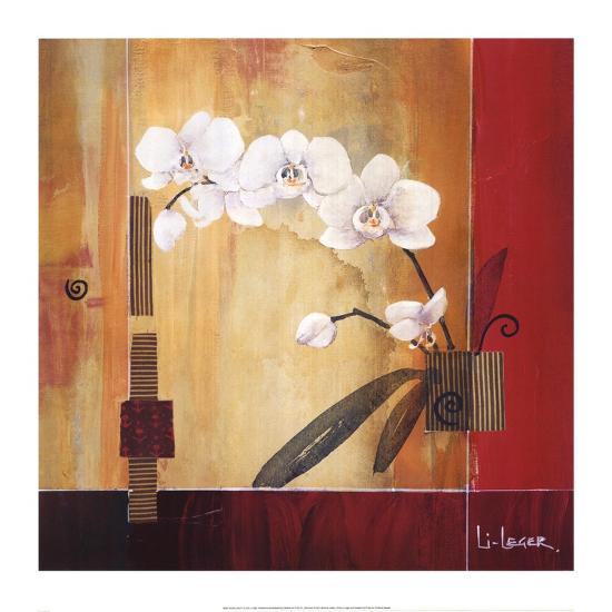 Orchid Lines II-Don Li-Leger-Art Print